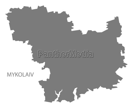 mykolaiv ukraine map grey