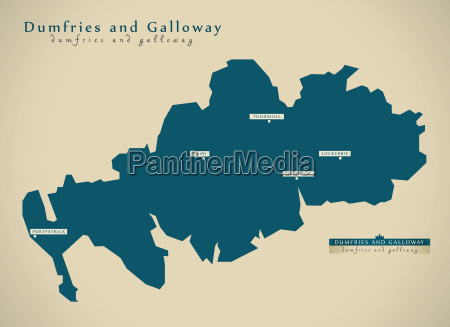 modern map dumfries and galloway