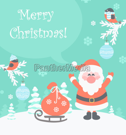 santa with gifts messaging merry christmas