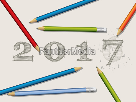 pencils and corrected 2016 text