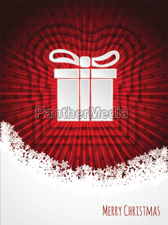 red christmas greeting card design with