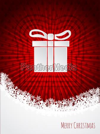red christmas greeting with bursting christmas