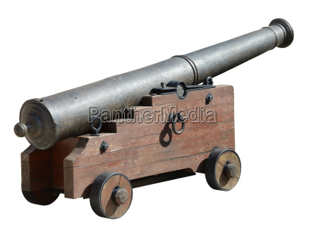 ancient medieval cannon on wheels
