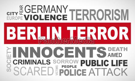 berlin terror in germany word
