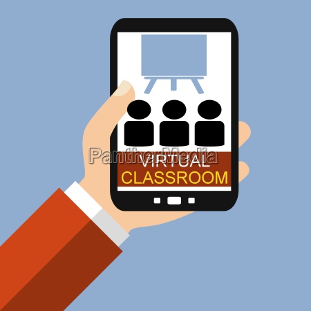virtual classroom on the smartphone