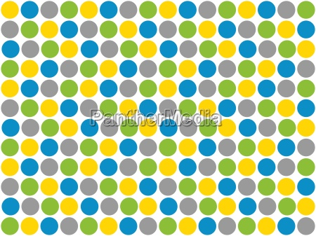white background with colorful dots