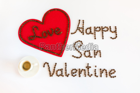 happy san valentine with love and