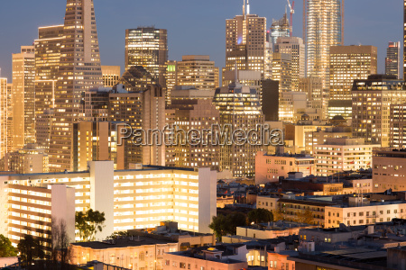 san francisco christmas lights viewed from
