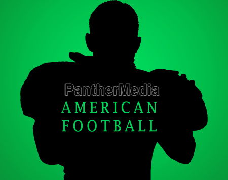 the silhouette of american football player