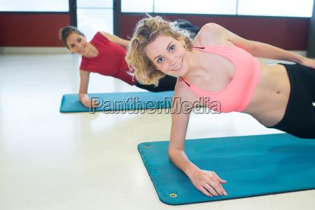 group of female atheletes training on