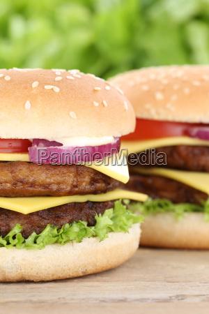 double cheeseburger hamburger closeup close up