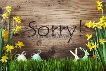 easter decoration gras text sorry