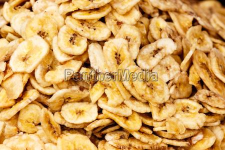 dried banana background