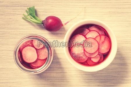 pickled, radishes - 19825529