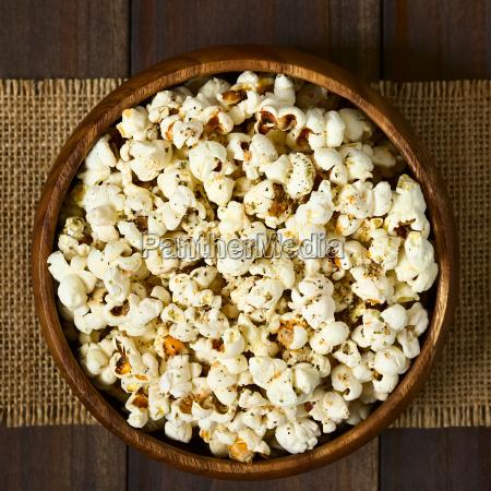 popcorn, with, cheese, , garlic, and, oregano - 19825557