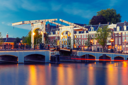 magere brug skinny bridge amsterdam netherlands