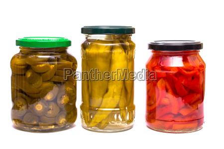 pepperoni jalapenos and parpika in glass