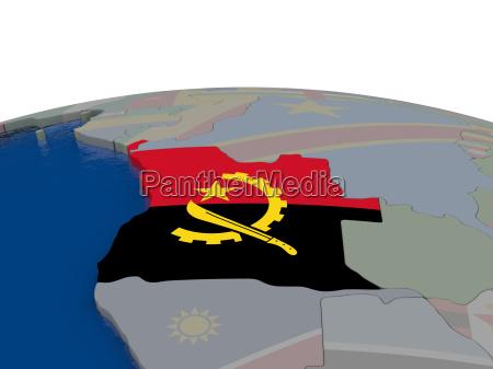 angola with flag