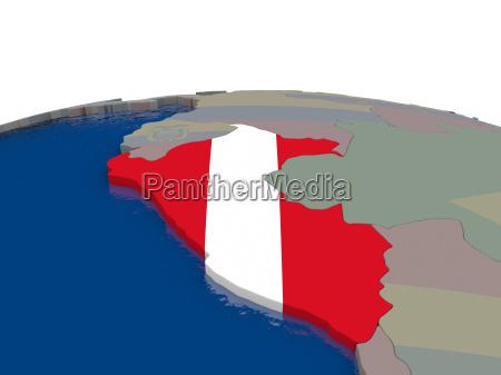 peru with flag