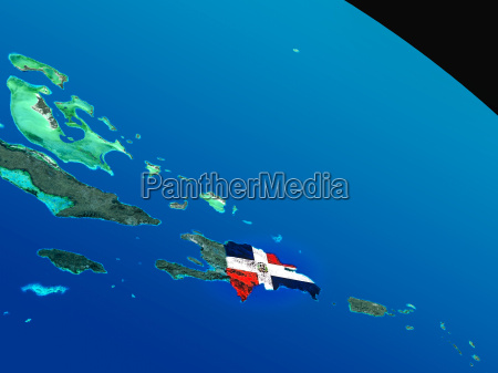 flag of dominican republic from space