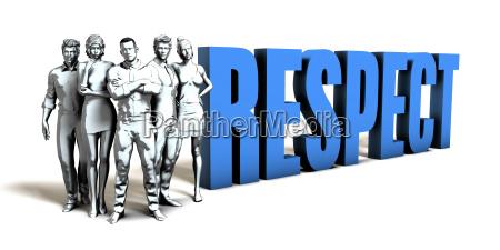 respect business concept