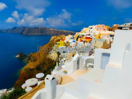view to the sea from oia