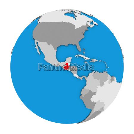 guatemala on globe