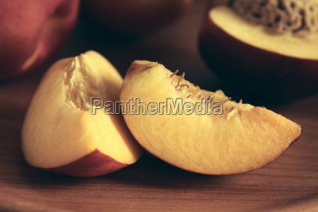 fresh ripe nectarine