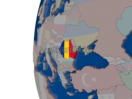 romania with national flag