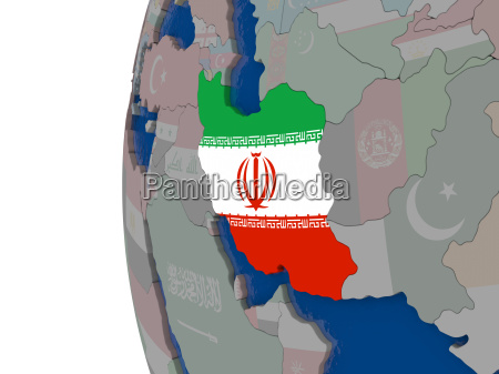 iran with national flag