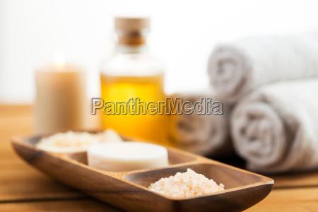close up of soap himalayan salt