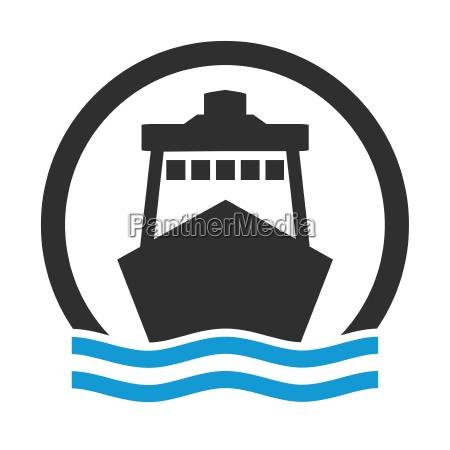 symbol for ship cargo ship or