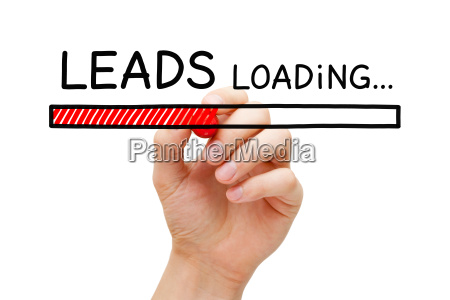 lead generation loading bar concept