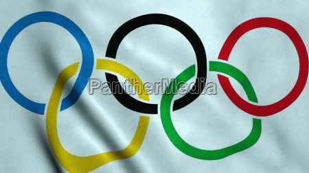 olympic games flag waving
