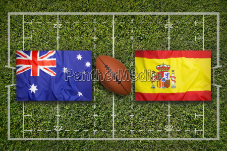 australia vs spain on rugby field