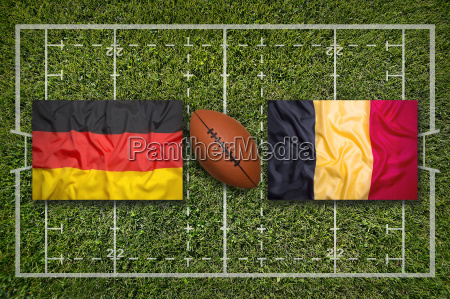 germany vs belgium flags on rugby