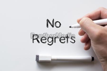 no regrets written on whiteboard