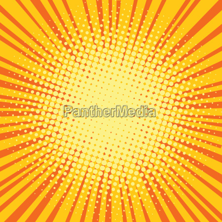 yellow orange rays comic pop art