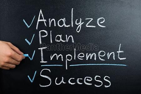 the business strategy plan on blackboard