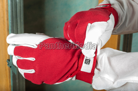 home insulation workwear red gloves