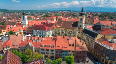 the city of sibiu in romania