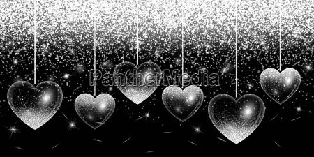 heart silver highlights