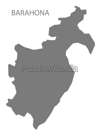 barahona dominican republic map grey