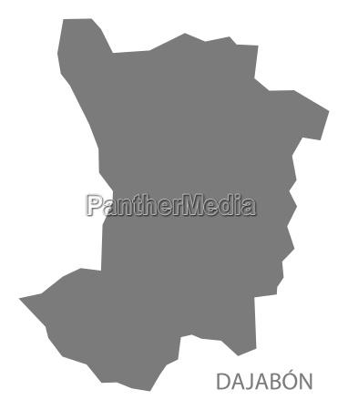 dajabon dominican republic map grey