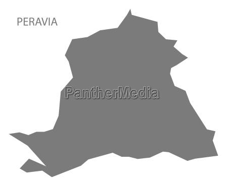 peravia dominican republic map grey