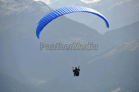 paragliding at the wilder kaiser in