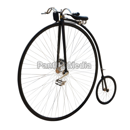 bicycle with a large front wheel