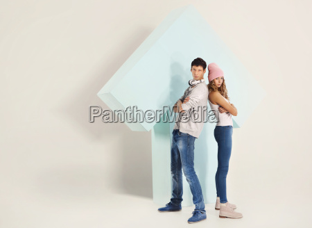 couple of young people girl and