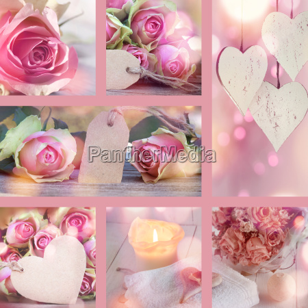 collage for valentines day and mothers
