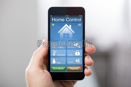 mobile phone with home control system